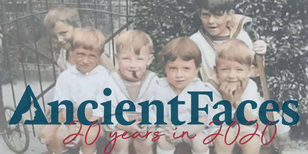 Why we ALL Deserve to be Remembered:  AncientFaces - 20 years in 2020